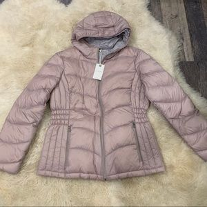 Luck Brand Quilted Hooded Jacket NWT